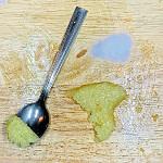 Garlic Paste on spoon